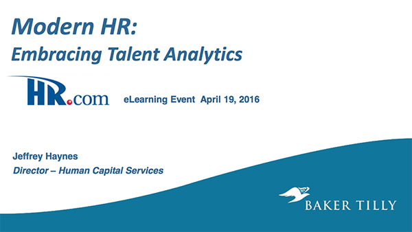 Baker Tilly: Modern HR – Embracing Talent Analytics